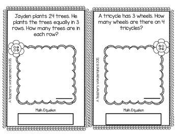 3rd Grade May Math Word Problem Journal