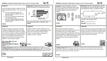 3rd Grade May Problem Solving: Daily Multi-Step (Two-Step) Math Problems
