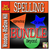 3rd Grade  McGraw-Hill  WONDERS    Spelling Lists BUNDLE