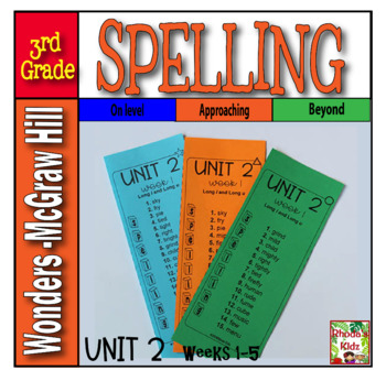 3rd Grade McGraw-Hill  WONDERS  Unit 2  Spelling Lists
