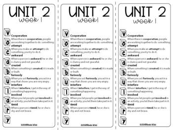 3rd Grade McGraw-Hill  WONDERS  Vocabulary List   UNIT2