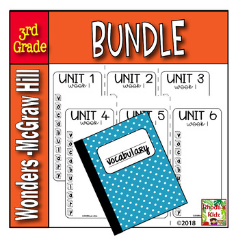 3rd Grade McGraw-Hill  WONDERS Vocabulary Lists  BUNDLE