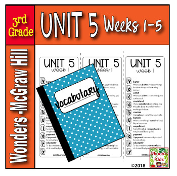 3rd Grade McGraw-Hill   WONDERS  Vocabulary Lists  UNIT 5