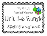 3rd Grade McGraw Hill Wonders Spelling Word Work Packets Units 1-6 Bundle