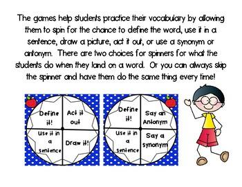 3rd Grade McGraw Hill Wonders Vocabulary Games Bundle Unit 1-6