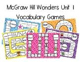 3rd Grade McGraw Hill Wonders Vocabulary Games Unit 1