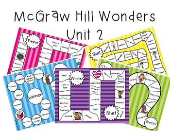 3rd Grade McGraw Hill Wonders Vocabulary Games Unit 2
