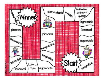 3rd Grade McGraw Hill Wonders Vocabulary Games Unit 3