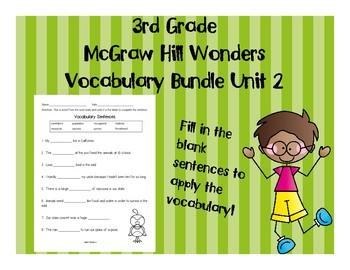 3rd Grade McGraw Hill Wonders Vocabulary Packet Unit 2