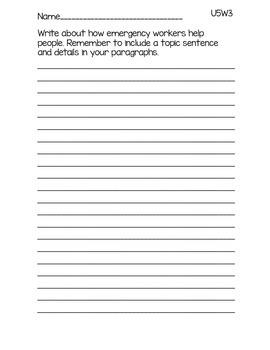 3rd Grade McGraw-Hill Wonders Writing Prompts Unit 5