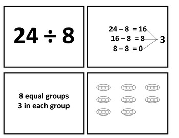 3rd Grade Meaning of Division Match Up Game for Common Core