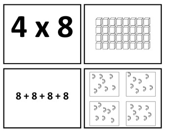 3rd Grade Meaning of Multiplication Match-Up Game for Common Core