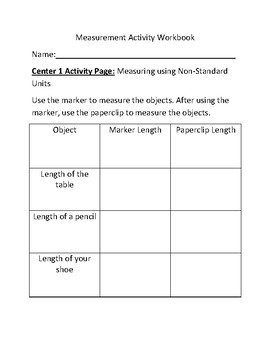 3rd Grade Measurement Center Activities and Worksheets