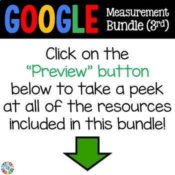 3rd Grade Measurement & Data Bundle {Time, Line Plots, Area, Perimeter} - Google