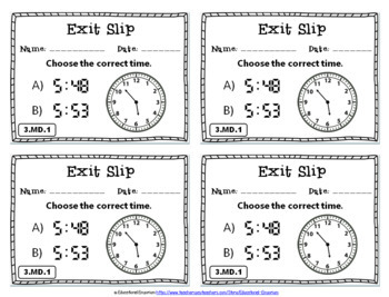 3rd Grade Measurement & Data Exit Slips: Measurement & Data Exit Slips 3rd Grade