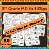 3rd Grade Measurement & Data Exit Slips: Measurement & Data Exit Slips 3rd Grade