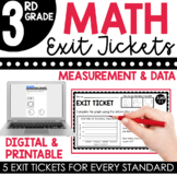 3rd Grade Measurement & Data Exit Tickets (Exit Slips)