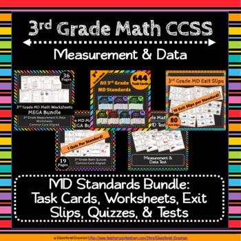 3rd Grade Measurement & Data Math Bundle: 3rd Grade MD Curriculum MEGA Bundle