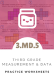 3rd Grade Measurement & Data Worksheet (3.MD.5)