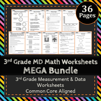 3rd Grade Measurement Data Worksheets 3rd Grade Math Worksheets