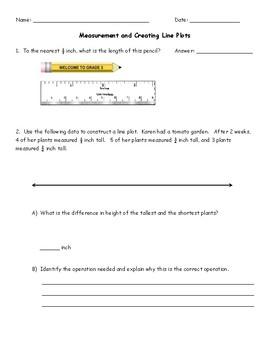 3rd Grade Measurement & Line Plots