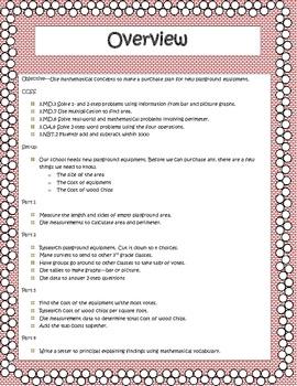 3rd Grade Common Core Measurement Task