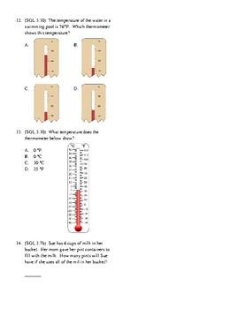 3rd Grade Measurement Unit Test