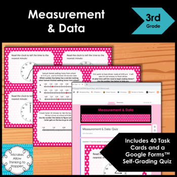 3rd Grade Measurement and Data Math Task Cards