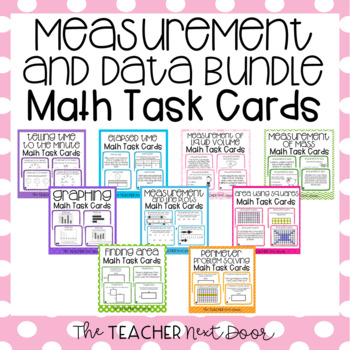 Measurement and Data Task Cards for 3rd Grade