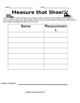3rd Grade Measurement and Line Plot