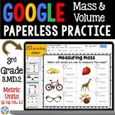 3rd Grade Measuring Mass and Volume {3.MD.2} Google Classroom