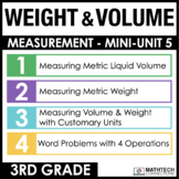 3rd Grade Measuring Weight & Volume Mini-Lessons, Practice