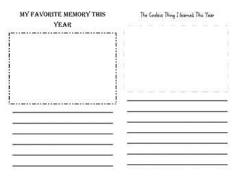3rd Grade Memory Book