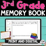 3rd Grade Memory Book   Print and Digital