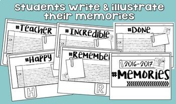 2018 Memory Book 3rd Grade - End of the Year Activities