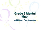 3rd Grade Mental Math - Addition Fact Learning Strategies