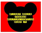3rd Grade Mickey Mouse Themed Multiplication Bump It Math Game - 5's, 6's, 7's