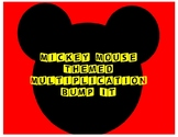3rd Grade Mickey Mouse Themed Multiplication Bump It Math Game - Multiples of 10