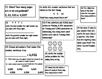 3rd Grade Mid Year Math Review