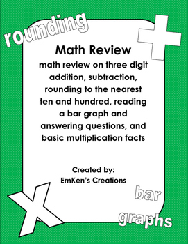 3rd Grade Mid-Year Math Review