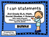 """3rd Grade Missouri Learning Standards """"I can"""" Statements &"""