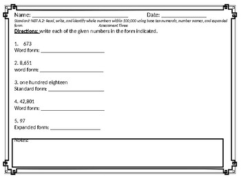 3rd Grade Missouri Math Standard Assessments