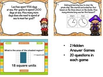 3rd Grade Math Test Preparation PowerPoint Game Bundle