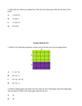 3rd Grade Mixed Review Do Now