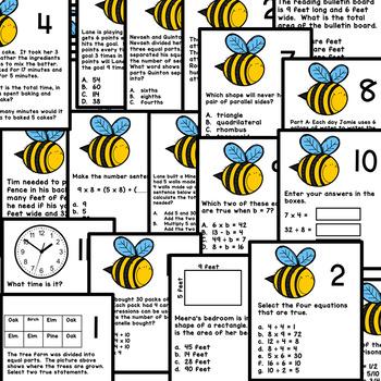 3rd Grade Mixed Skills Math Test Prep