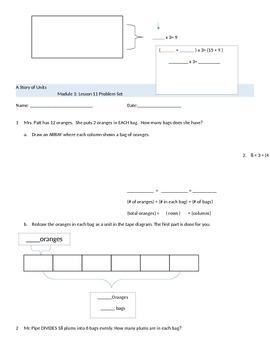 3rd Grade Modified Math Module 1 Lesson's 10-21