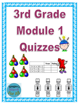 3rd Grade Module 1 Quizzes for Topics A to F - Editable