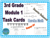 3rd Grade Module 1 Task Cards - Skip count to multiply and Divide-Editable-SBAC