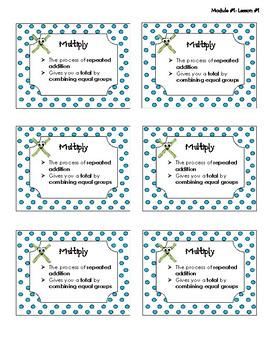3rd Grade - Module #1 - Vocabulary Words