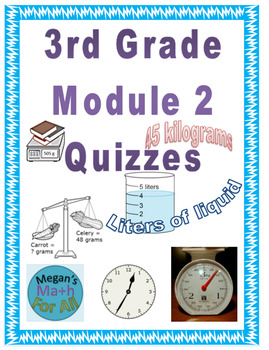 3rd Grade Module 2 Quizzes for Topics A to E - Editable